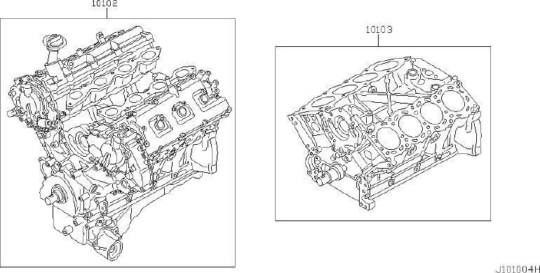 Infiniti Q45 Engine Short Block