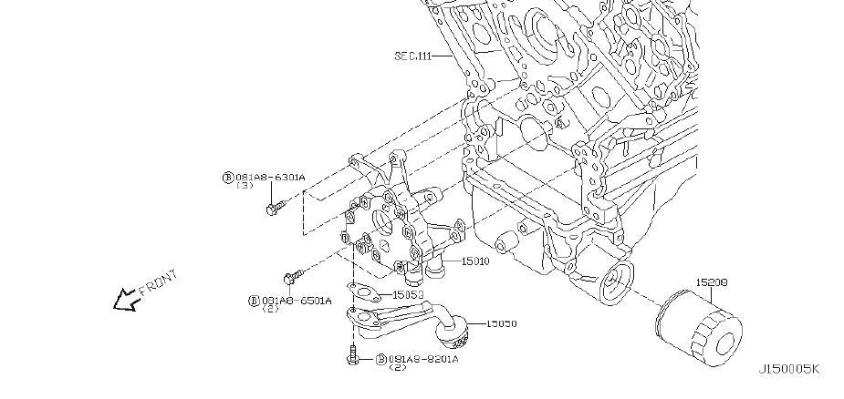 Infiniti Q45 Engine Oil Pump