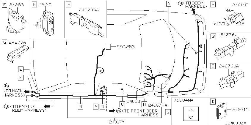 Infiniti Q45 Harness Sub  Body  Other