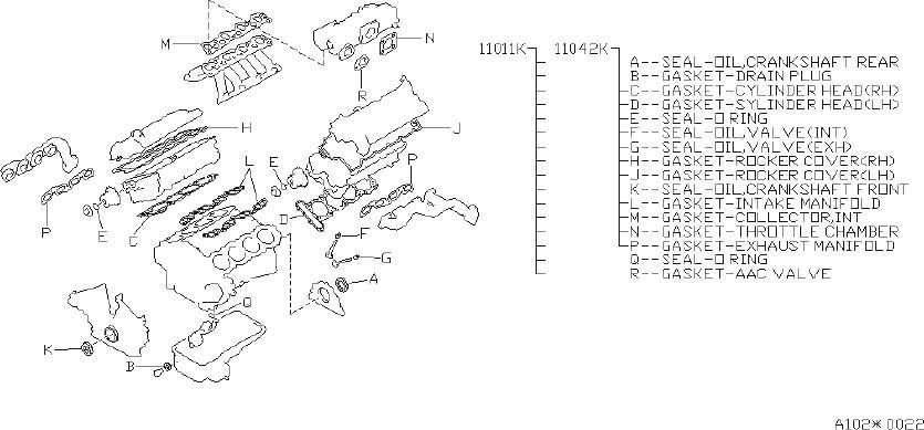 Infiniti Q45 Engine Cylinder Head Gasket Set  Kit