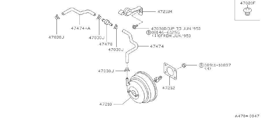 INFINITI Q45 Power Brake Booster Check Valve - 47478-51E00 ...
