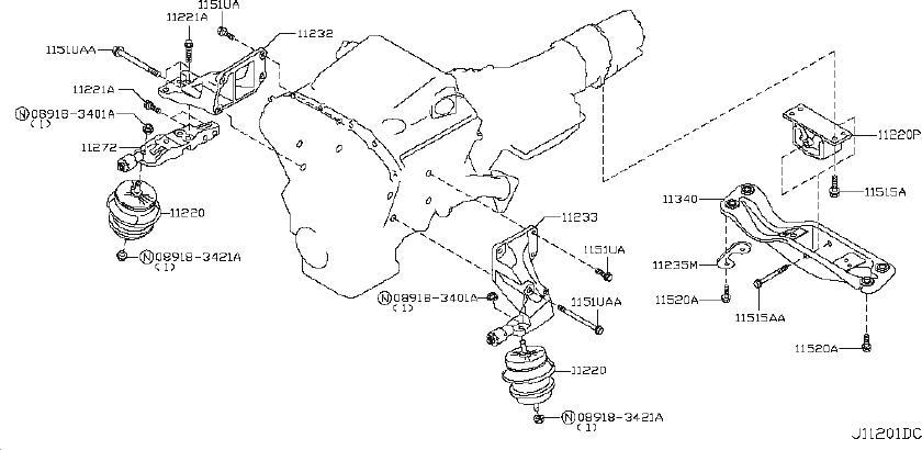 Infiniti Ex35 Bolt  Awd  Engine