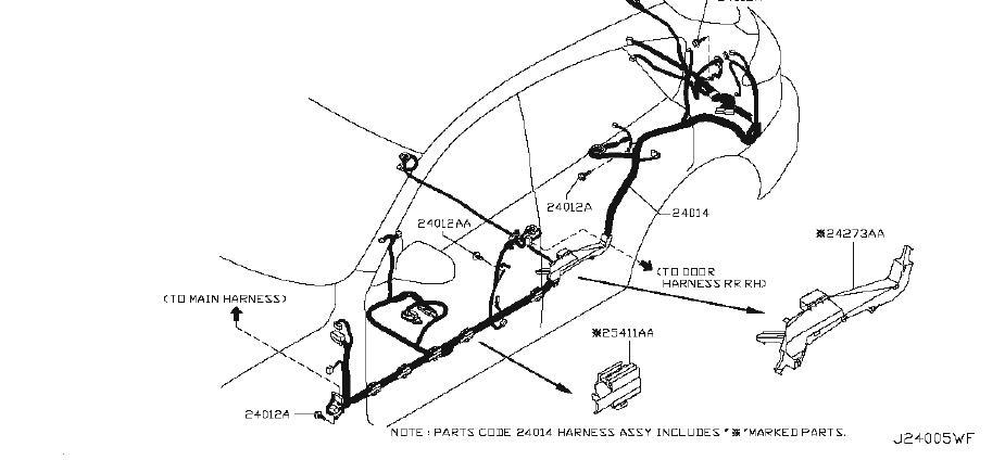 Infiniti Ex35 Harness Main  Egi  Body