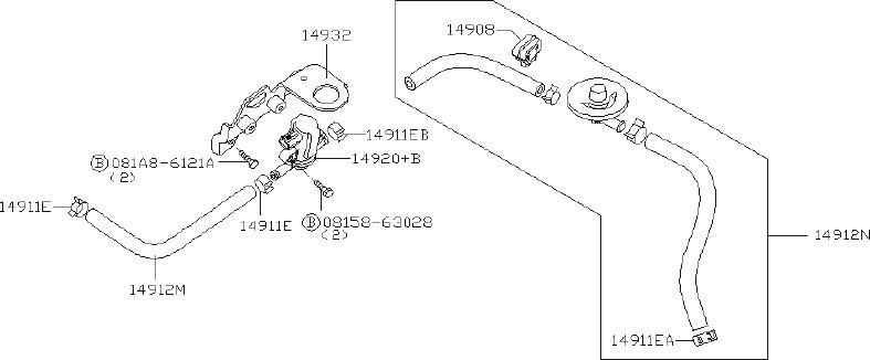 Infiniti Qx56 Vapor Canister Purge Solenoid Bracket