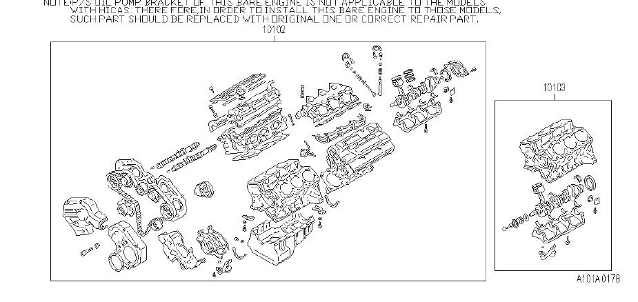Infiniti J30 Engine Complete  Short  Bare