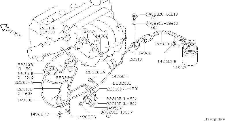 Infiniti G20 Clamp Hose  B  Engine