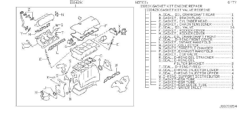Infiniti G20 Engine Gasket Set  Kit
