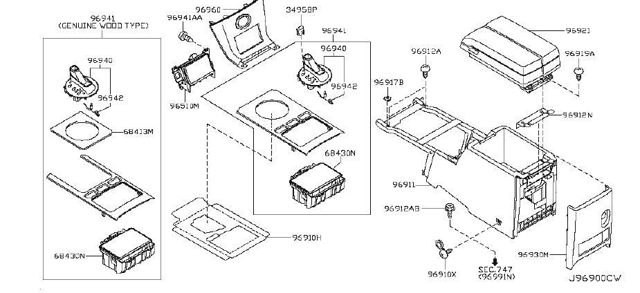 Infiniti Fx35 Console Hinge