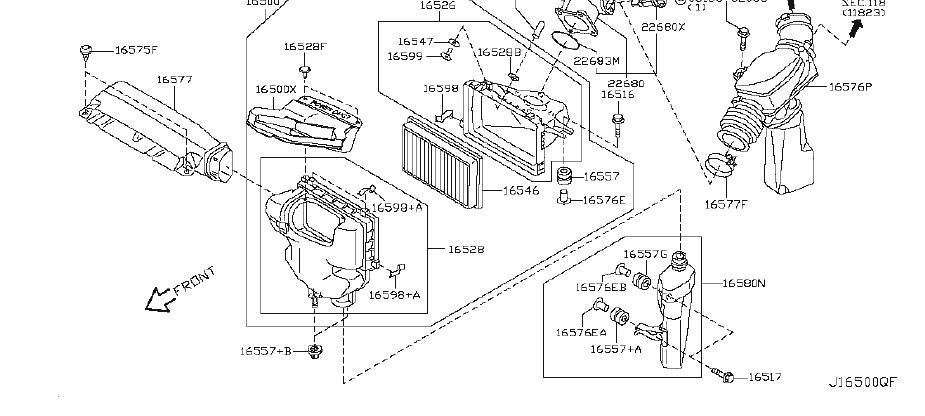 Infiniti G35 Engine Air Intake Hose  Cleaner