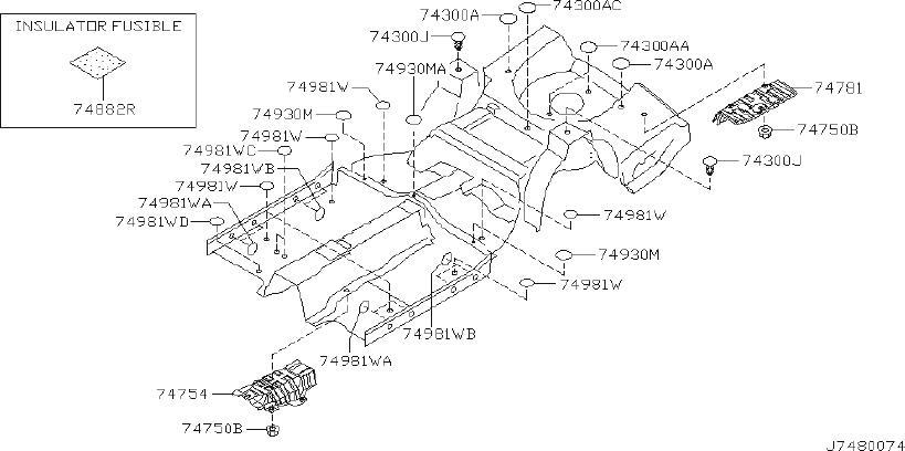 Infiniti M45 Insulator Fusible
