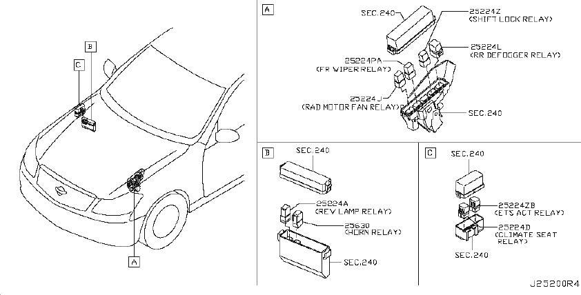 Infiniti M45 Relay Ignition  Relays  Rad  Ptc  Mtr